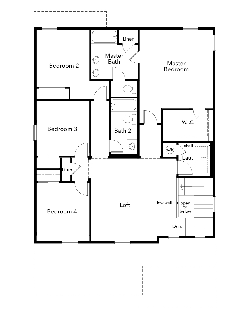 New Homes in Aurora, CO - Plan 2583, Second Floor