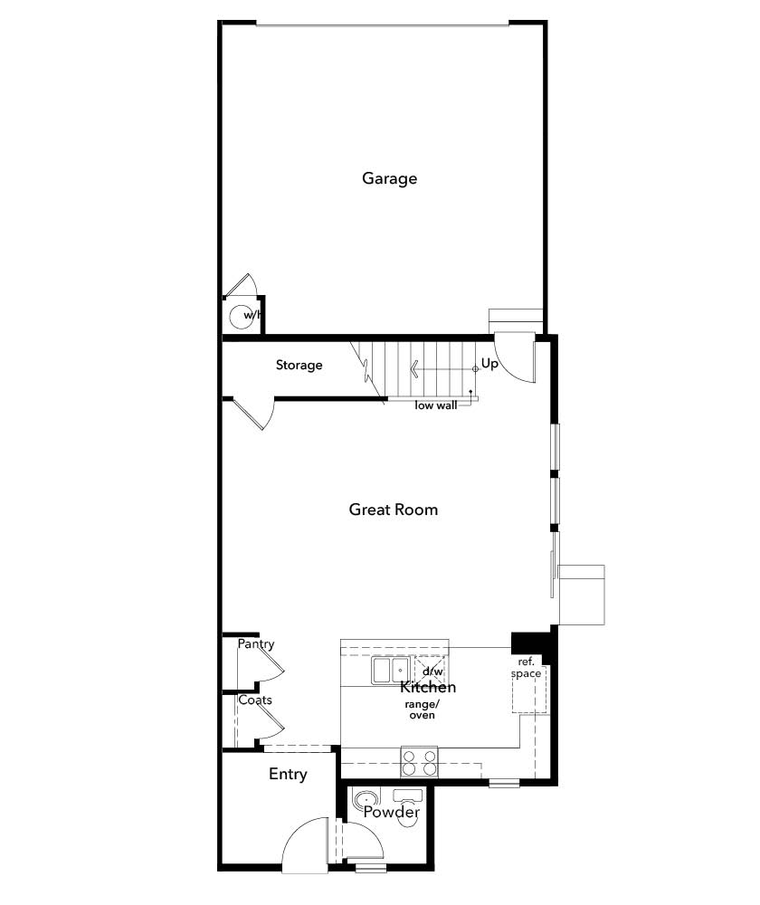 New Homes in Denver, CO - Plan 1299, First Floor