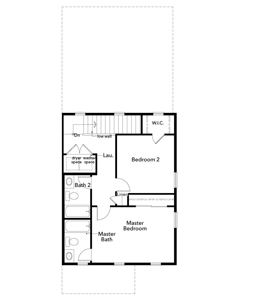 New Homes in Denver, CO - Plan 1299, Second Floor