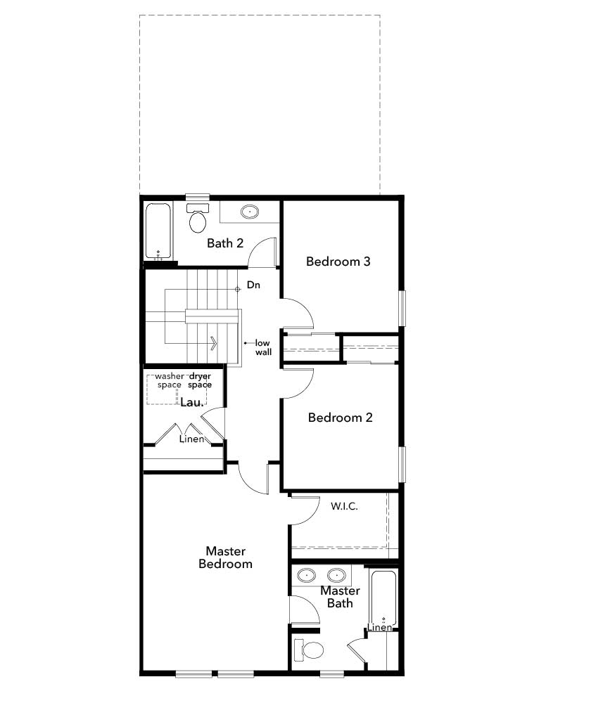 New Homes in Denver, CO - Plan 1574 Modeled, Second Floor