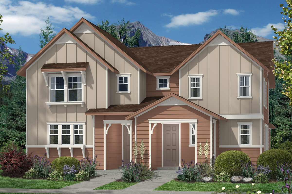 New Homes in Denver, CO - Plan 1507 & Plan 1299 - Elevation A