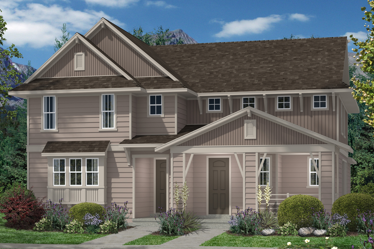 New Homes in Denver, CO - Plan 1507 & Plan 1299 - Elevation B