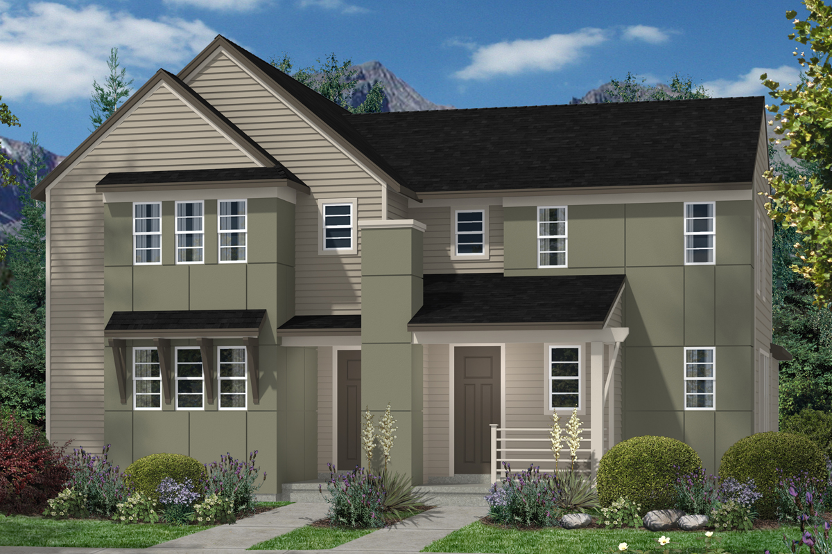 New Homes in Denver, CO - Plan 1507 & Plan 1299 - Elevation C