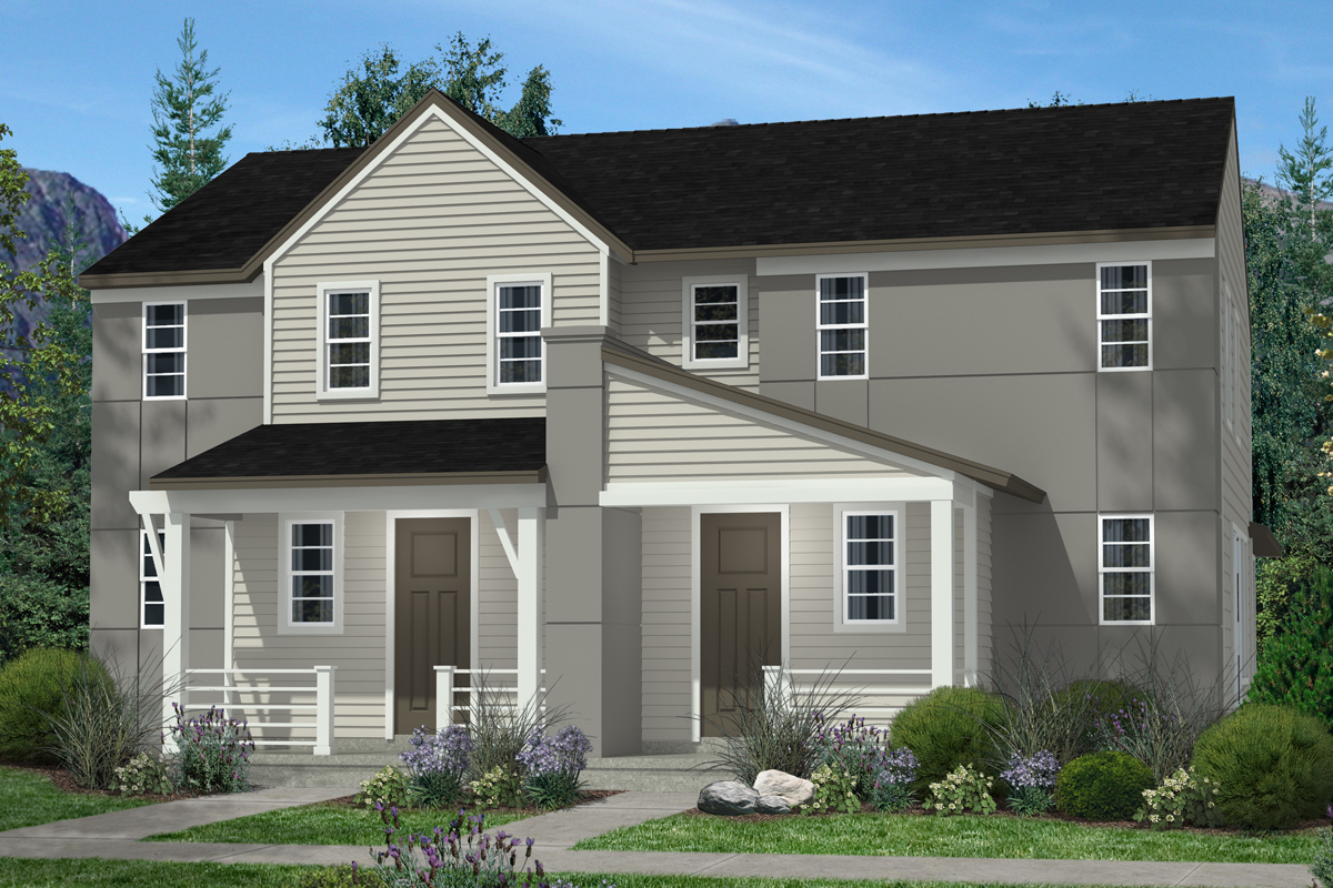 New Homes in Denver, CO - Plan 1299 & Plan 1299 - Elevation C