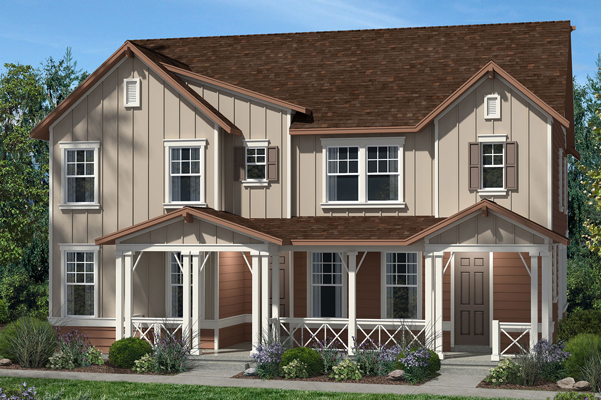 New Homes in Denver, CO - Plan 1574 & Plan 1507 - Elevation A