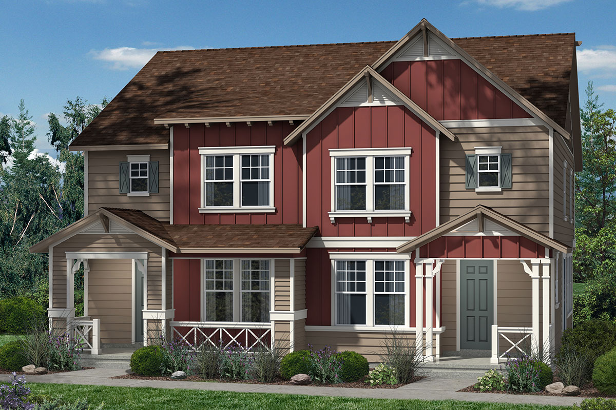 New Homes in Denver, CO - Plan 1574 & Plan 1574 - Elevation A