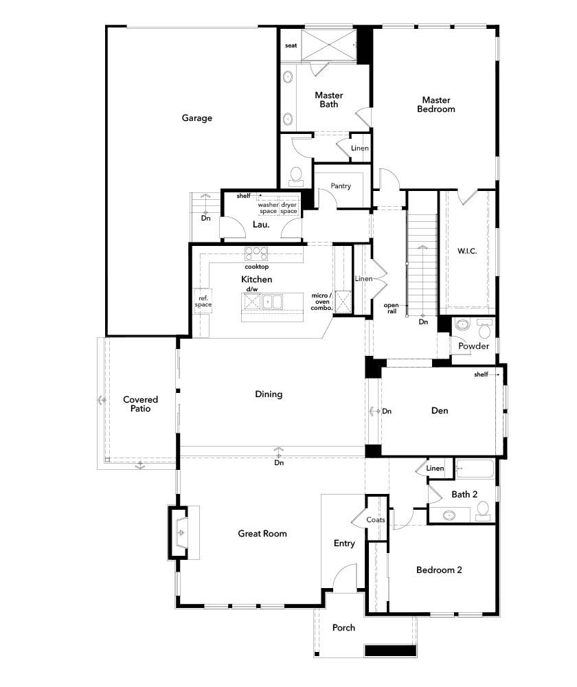 New Homes in Denver, CO - Plan 2617, First Floor