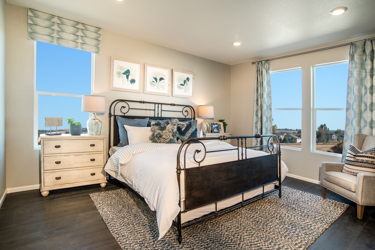 New Homes in Parker, CO - Stone Creek Ranch Plan 1818 Modeled Master Bedroom