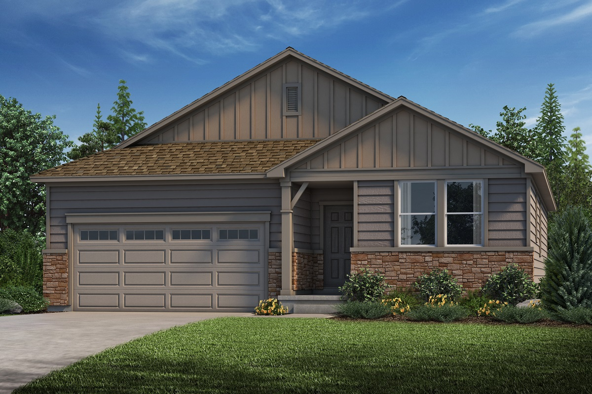 New Homes in Parker, CO - Stone Creek Ranch Plan 1590 Elevation A