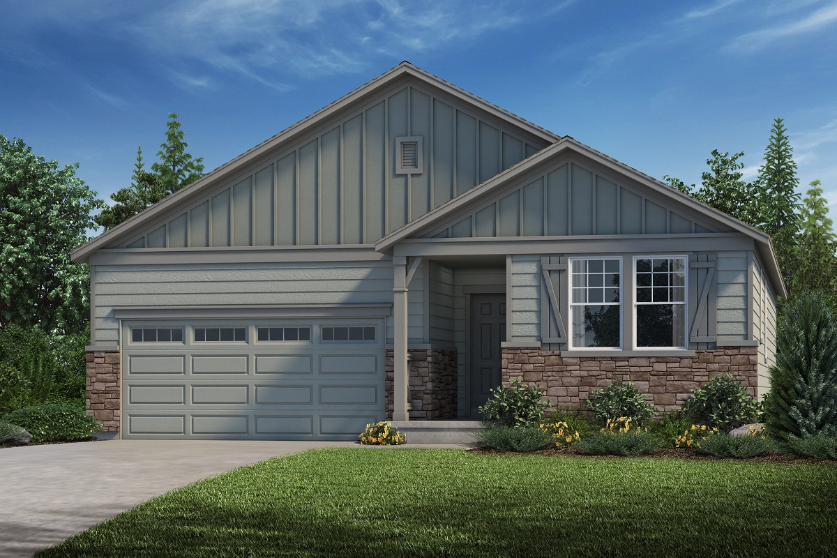New Homes in Parker, CO - Stone Creek Ranch Plan 1747 Elevation A
