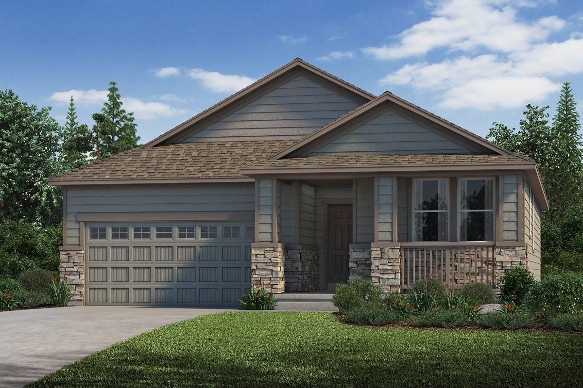 New Homes in Parker, CO - Stone Creek Ranch Plan 1747 Elevation C