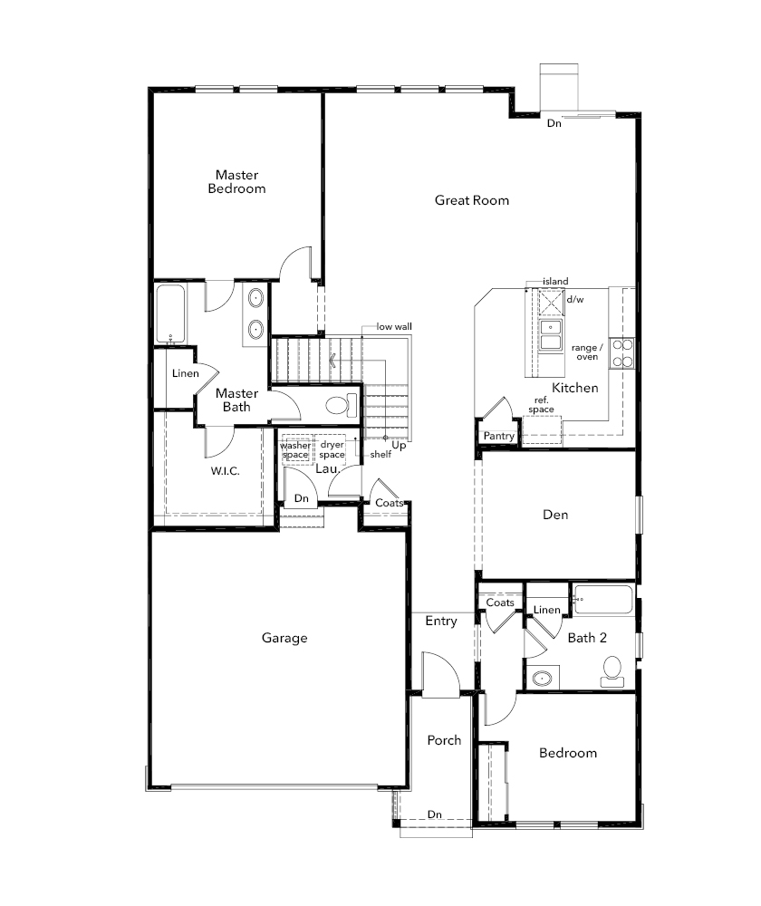 New Homes in Parker, CO - Plan 1747, First Floor