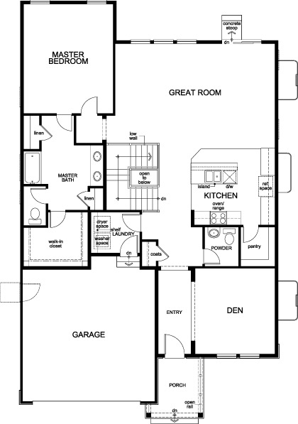 New Homes in Parker, CO - Plan 1685, First Floor