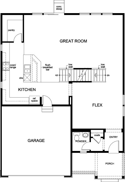 New Homes in Dacono, CO - Plan 2335, First Floor