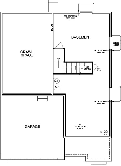 New Homes in Dacono, CO - Plan 2335, Basement