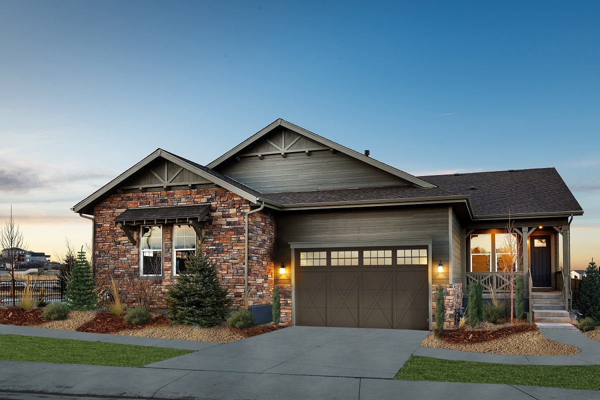 New Homes in Castle Rock, CO - Terrain - Ranch Villa Collection Ambience Exterior