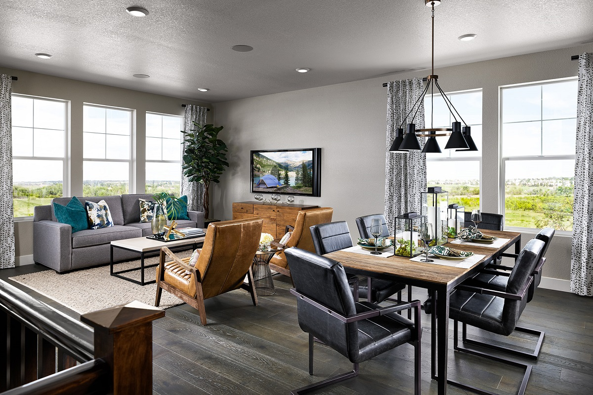 New Homes in Castle Rock, CO - Terrain - Ranch Villa Collection Ambience Dining & Family