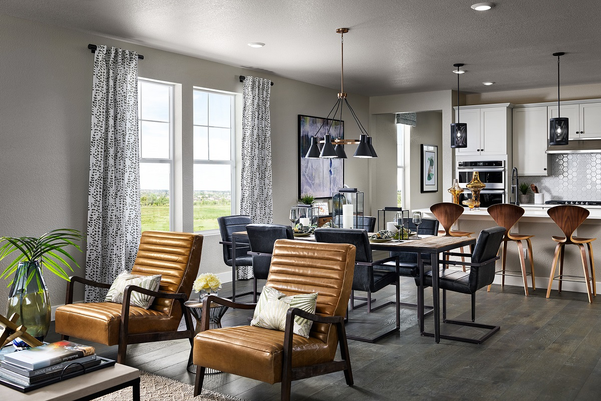 New Homes in Castle Rock, CO - Terrain - Ranch Villa Collection Ambience Great Room