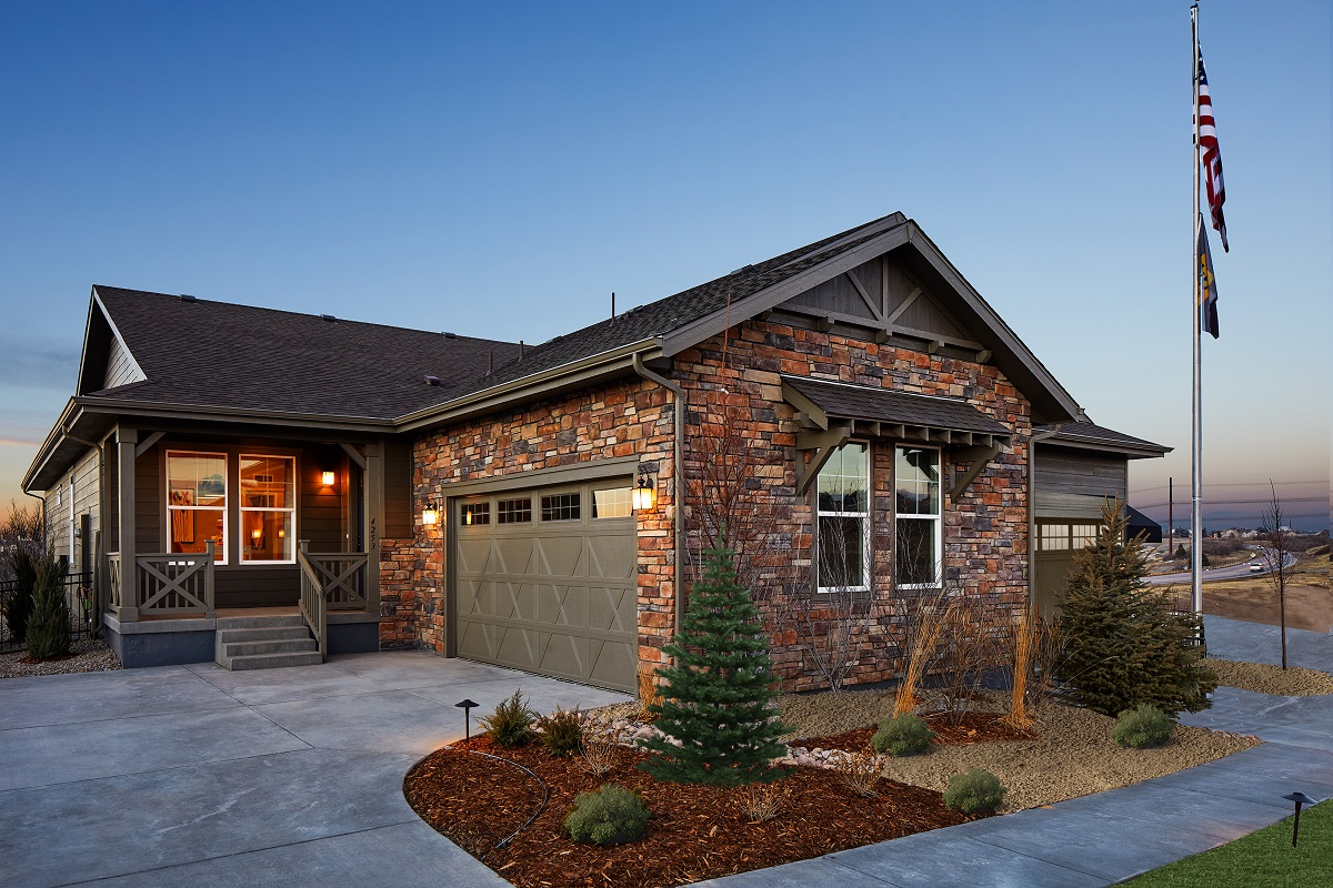 New Homes in Castle Rock, CO - Terrain - Ranch Villa Collection Mural Exterior