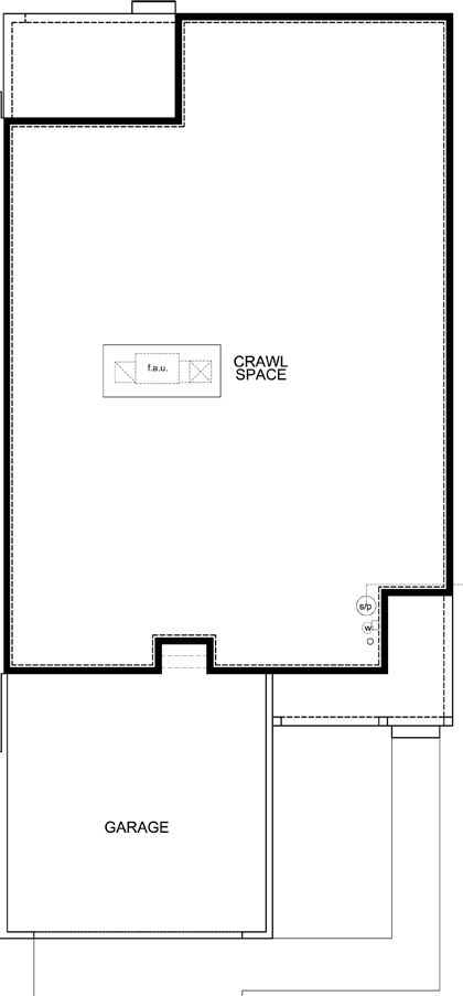 New Homes in Castle Rock, CO - Plan 1552 Modeled, Crawl Space