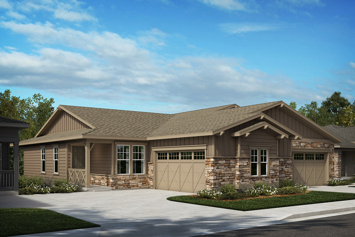 New Homes in Castle Rock, CO - Terrain - Ranch Villa Collection Plan 1498 & Plan 1552 - Elevation A