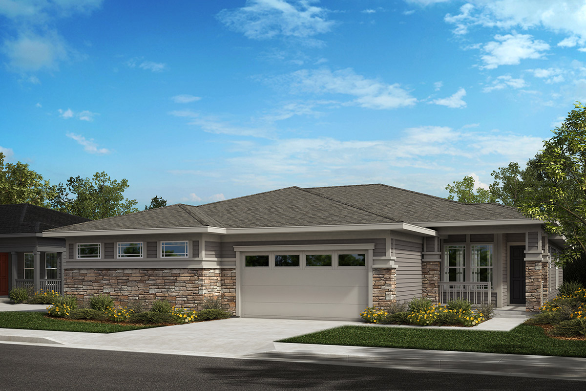 New Homes in Castle Rock, CO - Plan 1552 and Plan 1498 - Elevation B