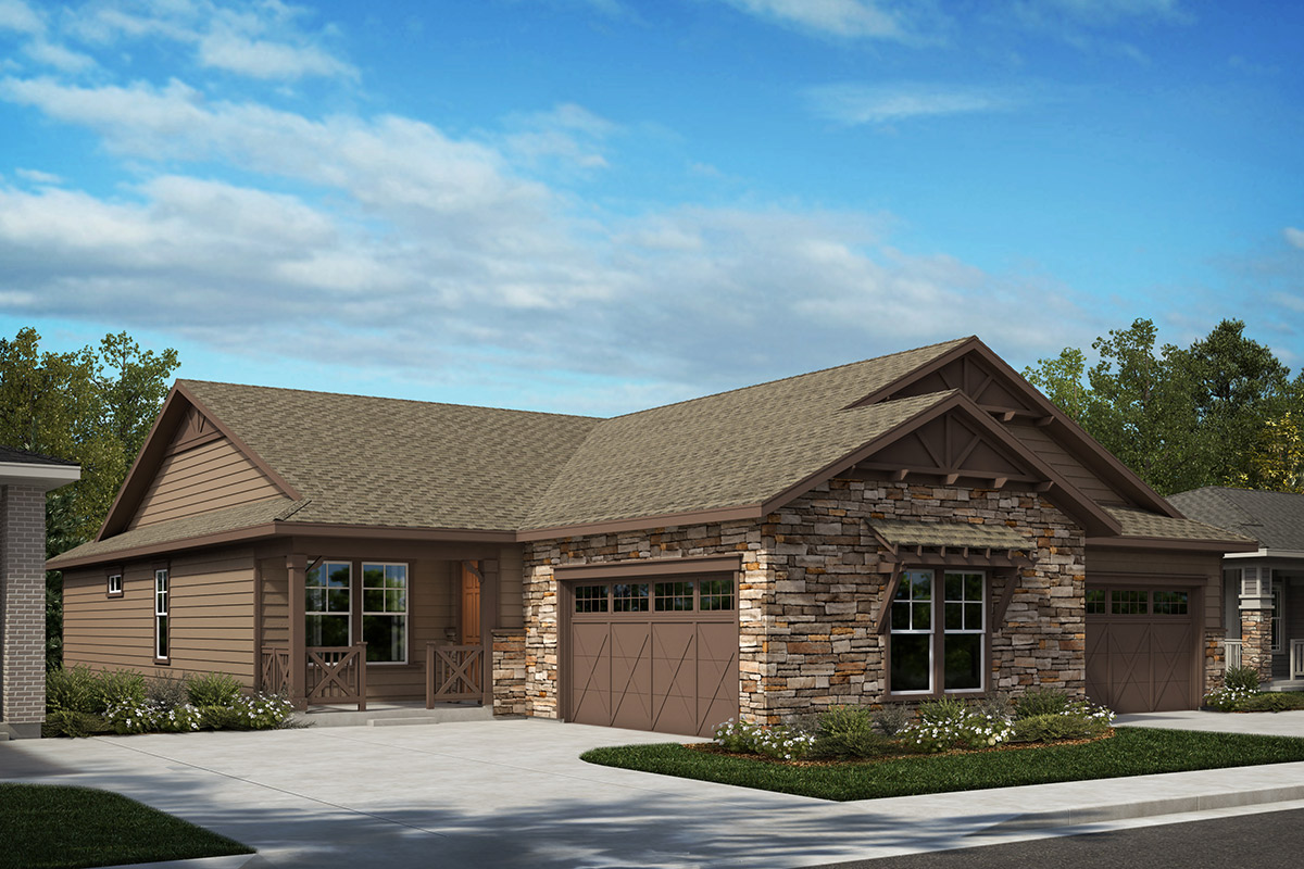 New Homes in Castle Rock, CO - Plan 1780 and Plan 1552 - Elevation A