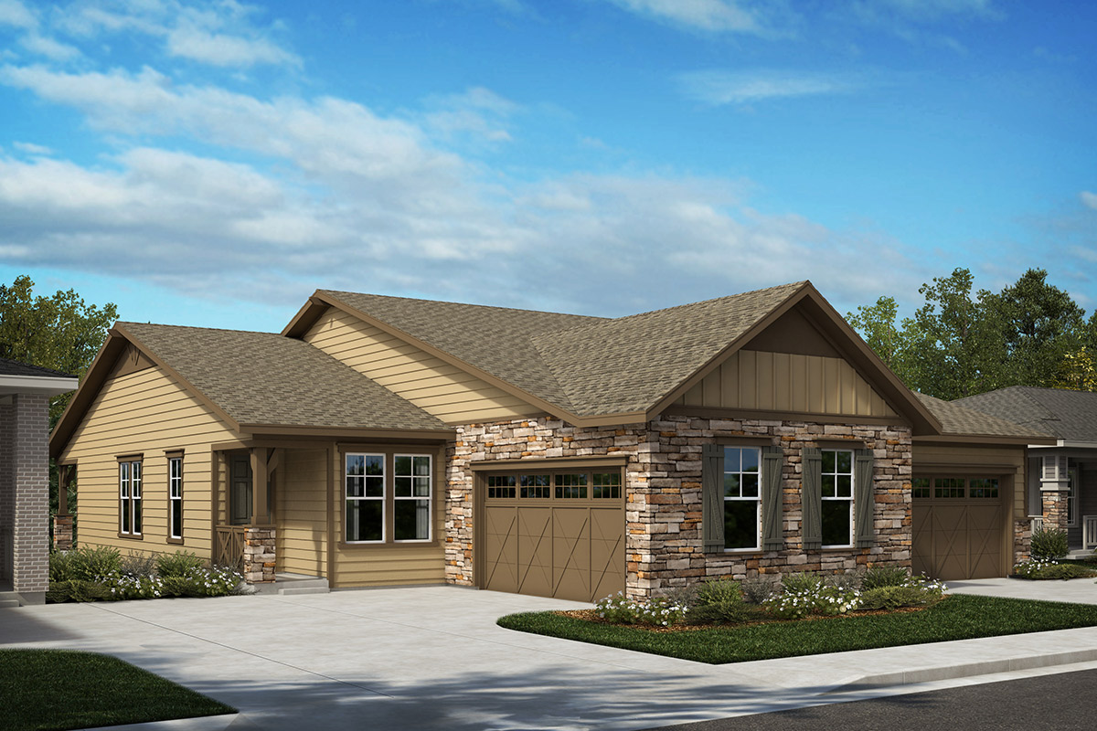 New Homes in Castle Rock, CO - Plan 1552 and Plan 1790 - Elevation A