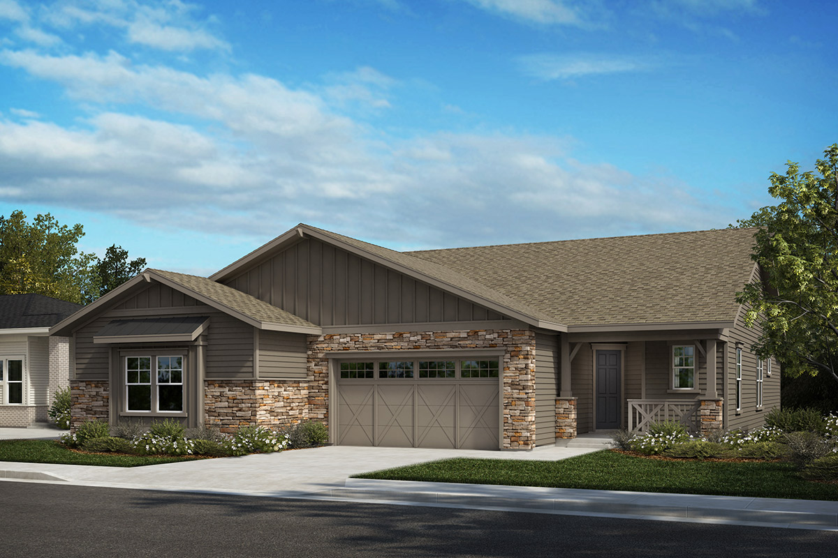 New Homes in Castle Rock, CO - Plan 1632 and Plan 1498 - Elevation A