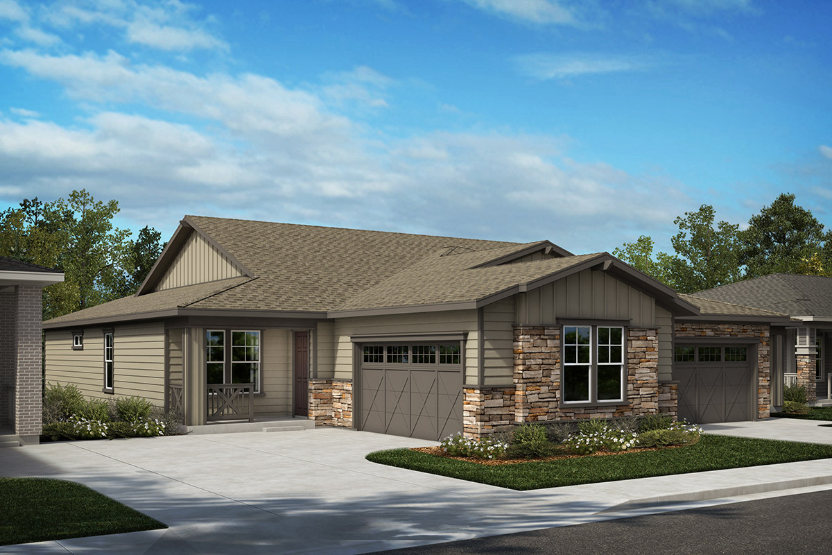 New Homes in Castle Rock, CO - Plan 1780 & Plan 1632 - Elevation A