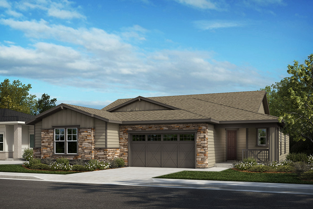 New Homes in Castle Rock, CO - Plan 1780 and Plan 1632 - Elevation A