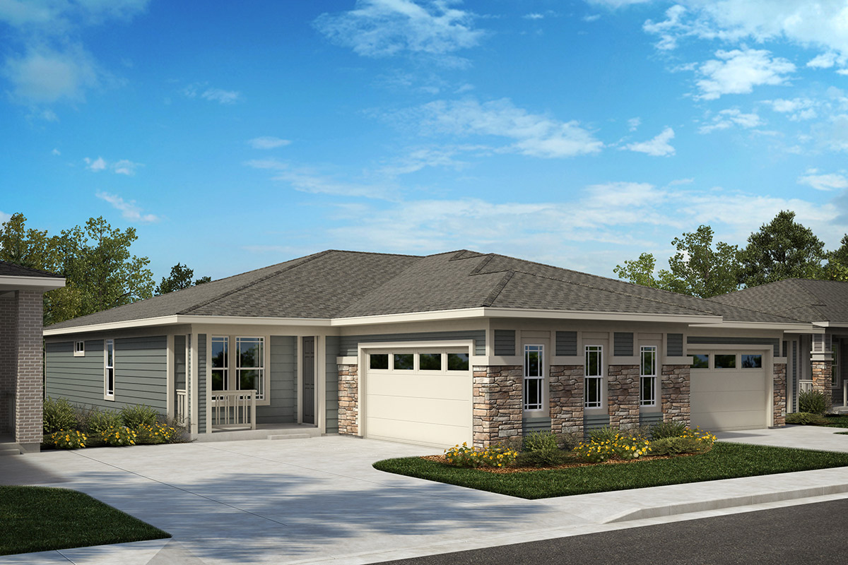 New Homes in Castle Rock, CO - Plan 1780 and Plan 1632 - Elevation B