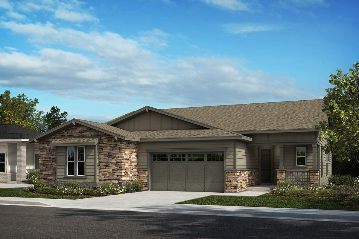 New Homes in Castle Rock, CO - Outlook and Canvas - Elevation A