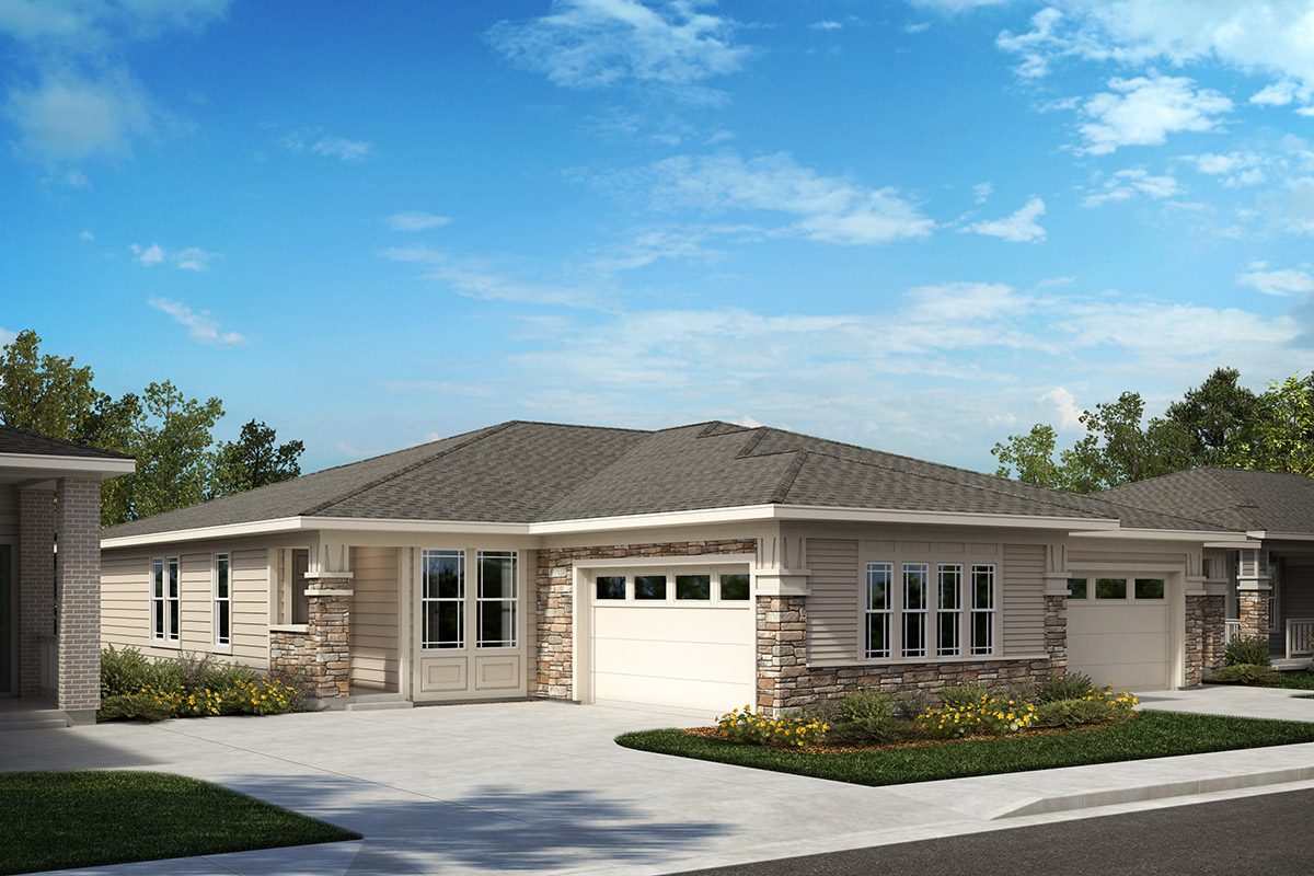 New Homes in Castle Rock, CO - Outlook and Canvas - Elevation B