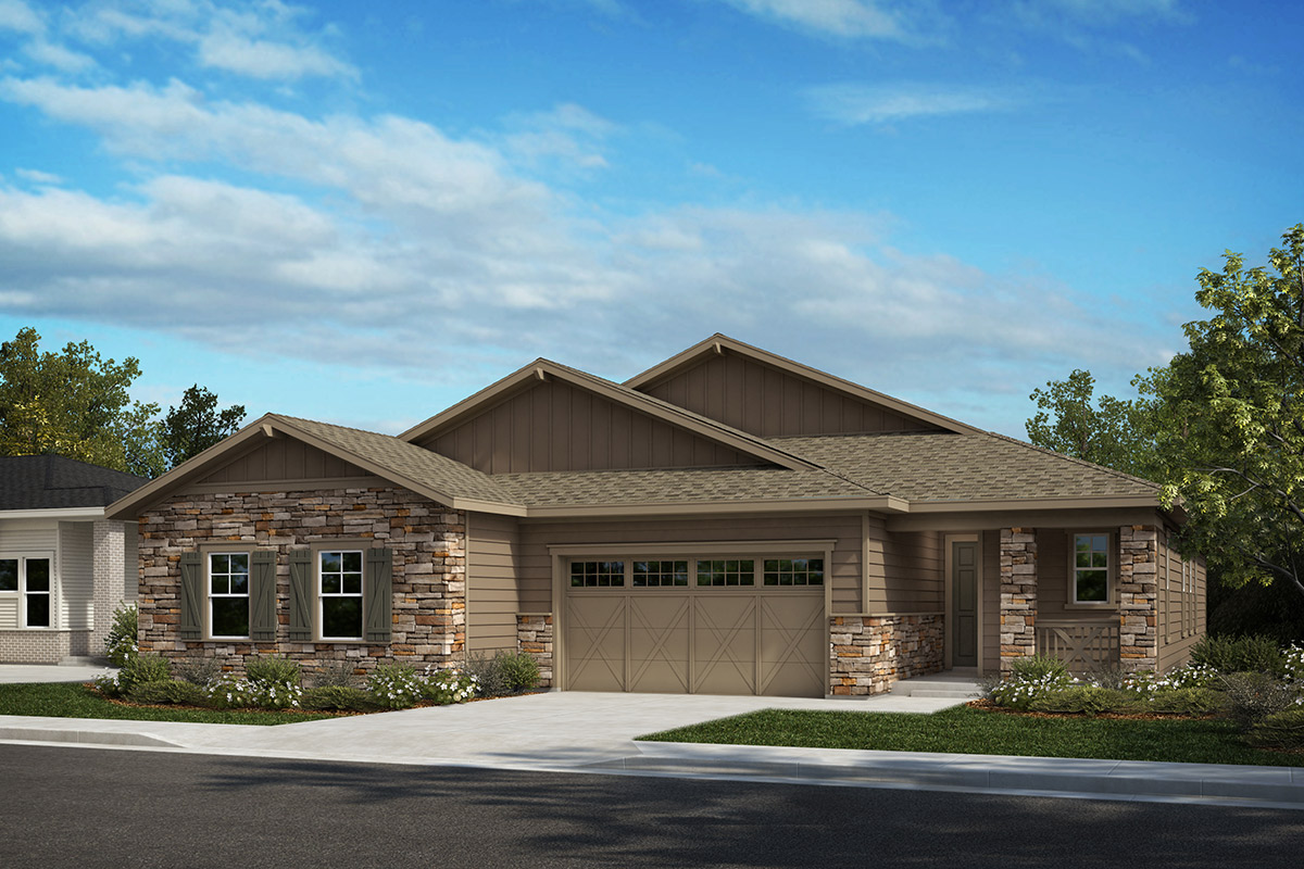 New Homes in Castle Rock, CO - Plan 1689 and Plan 1498 - Elevation A