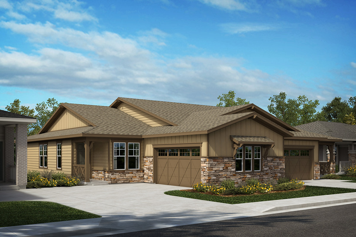 New Homes in Castle Rock, CO - Outlook and Compass - Elevation A