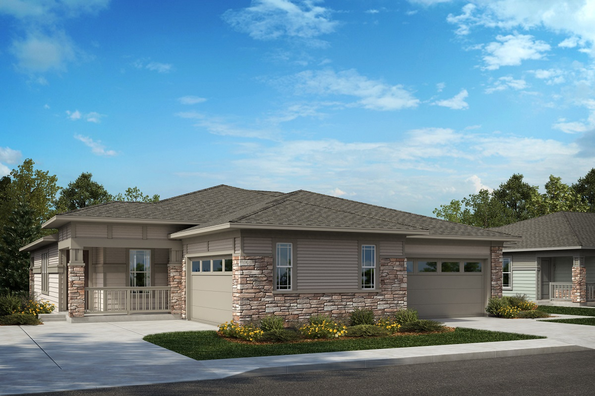 New Homes in Castle Rock, CO - Terrain - Ranch Villa Collection Ambience and Haven B Elevation