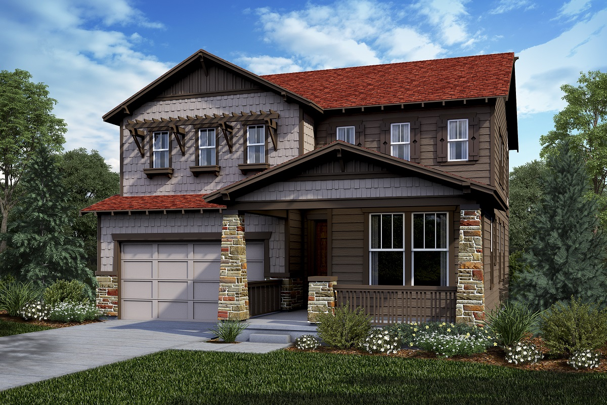 New Homes in Castle Rock, CO - Panorama at The Meadows Plan 2390 Elevation C