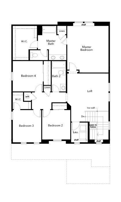 New Homes in Brighton, CO - Plan 2502, Second Floor