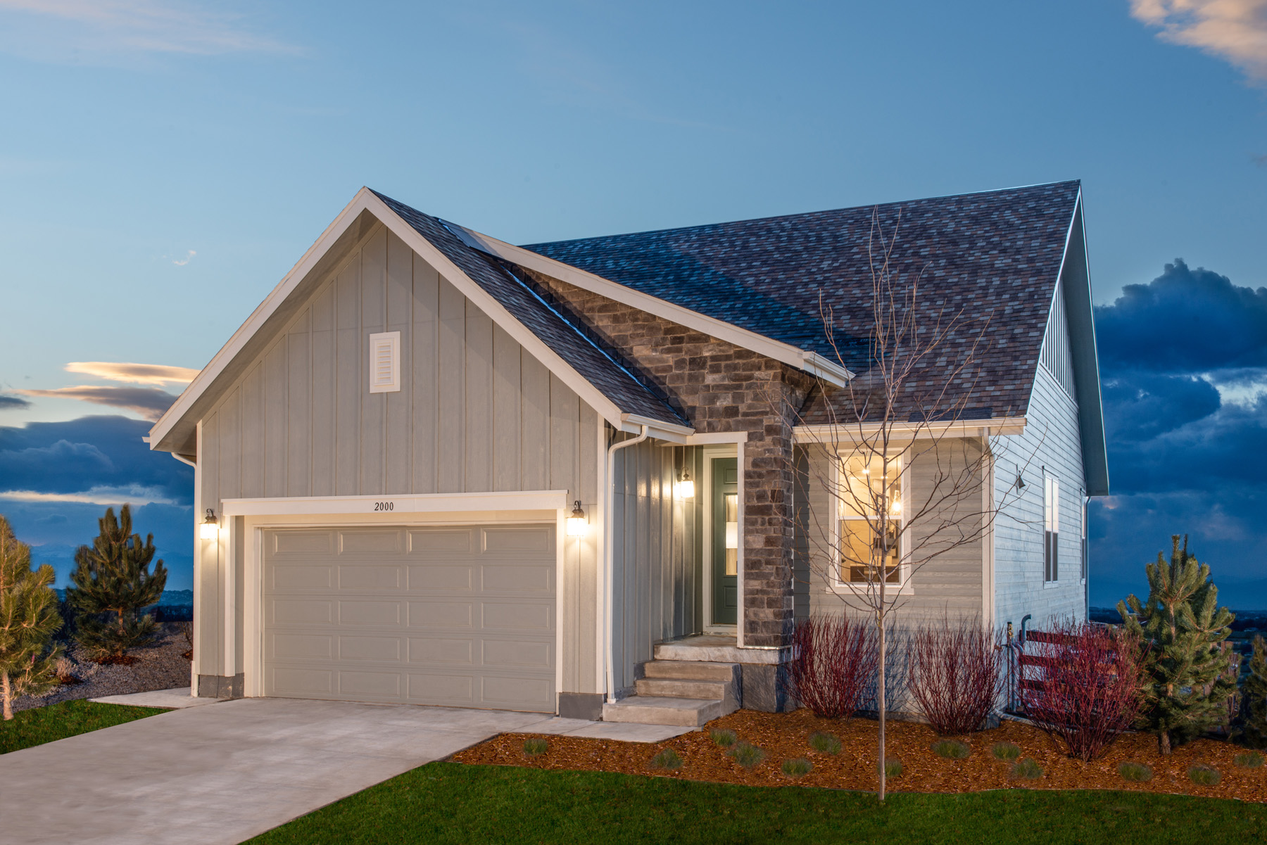 New Homes in Brighton, CO - The Villages at Prairie Center Plan 1532 Modeled Elevation A