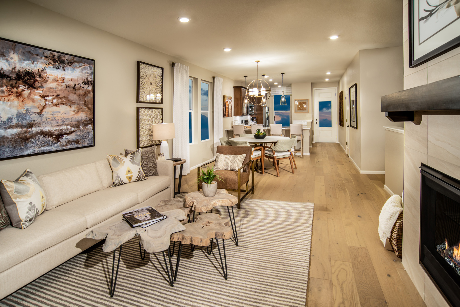New Homes in Brighton, CO - The Villages at Prairie Center Plan 1532 Modeled Great Room
