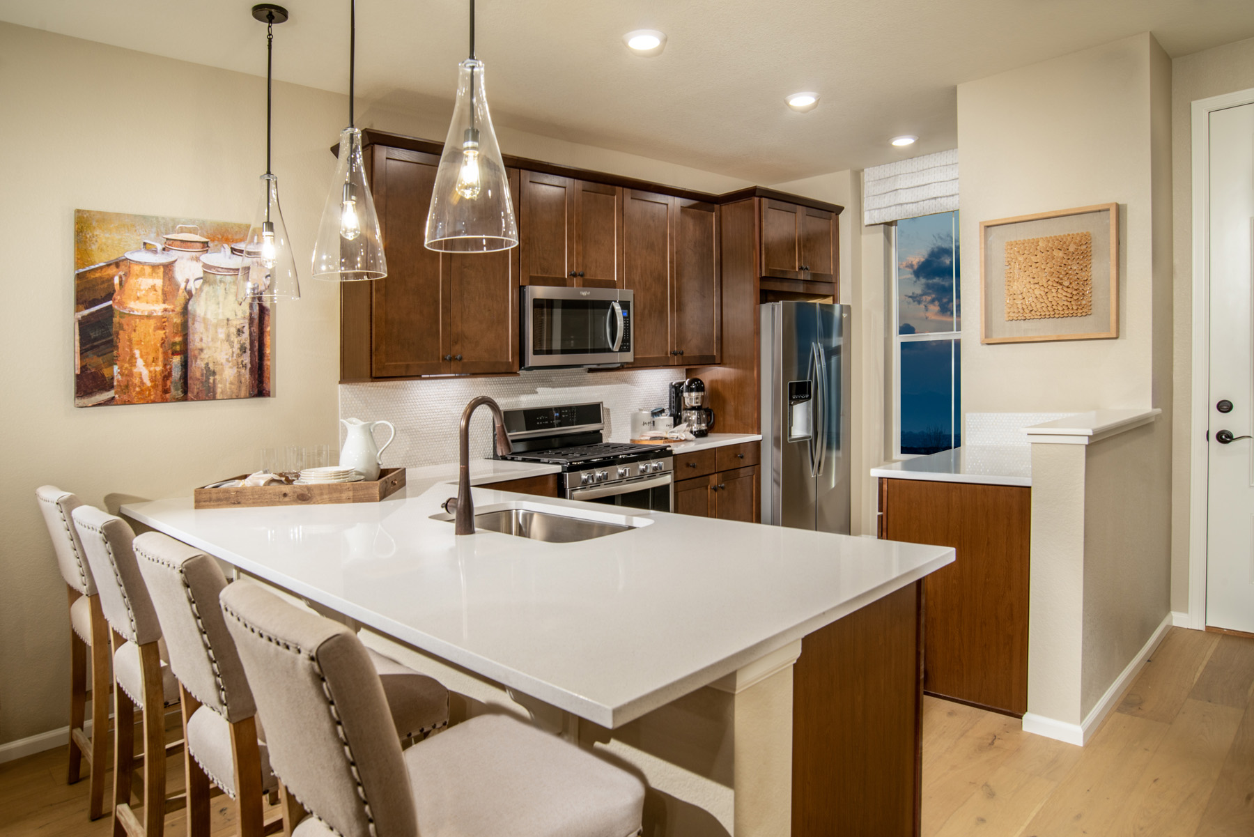 New Homes in Brighton, CO - The Villages at Prairie Center Plan 1532 Modeled Kitchen