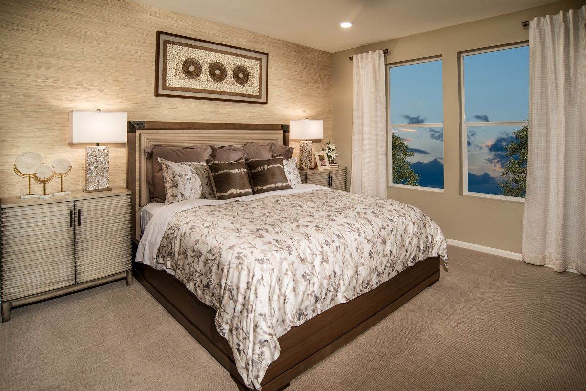 New Homes in Brighton, CO - The Villages at Prairie Center Plan 1532 Modeled Master Bedroom