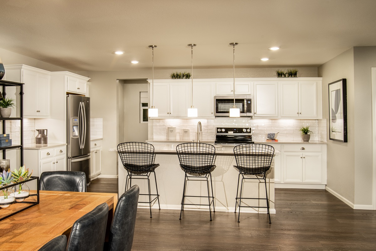 New Homes in Brighton, CO - The Villages at Prairie Center Plan 2583 Modeled Dining