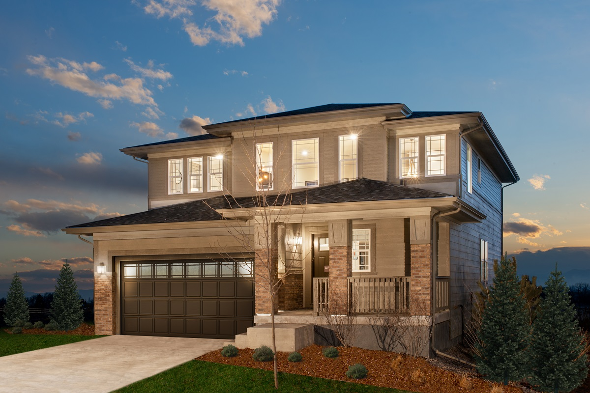 New Homes in Brighton, CO - The Villages at Prairie Center Plan 2583 Modeled Elevation C