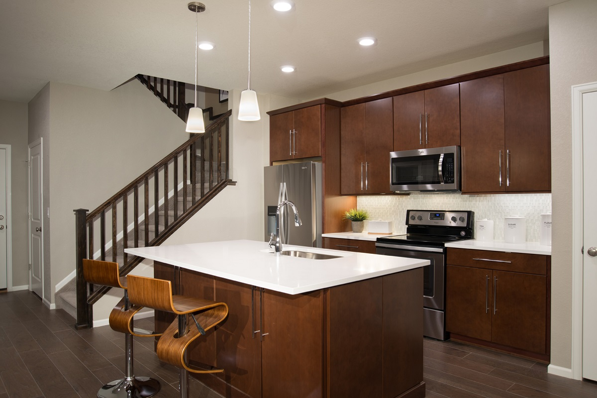 New Homes in Aurora, CO - Copperleaf Villas Plan 1443 Kitchen