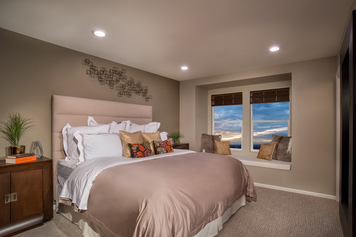 New Homes in Aurora, CO - Copperleaf Villas Plan 1443 Master Bedroom