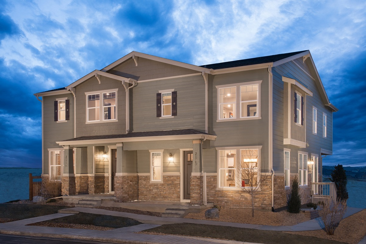 New Homes in Aurora, CO - Copperleaf Villas Plan 1443 & Plan 1763 Paired Model Homes