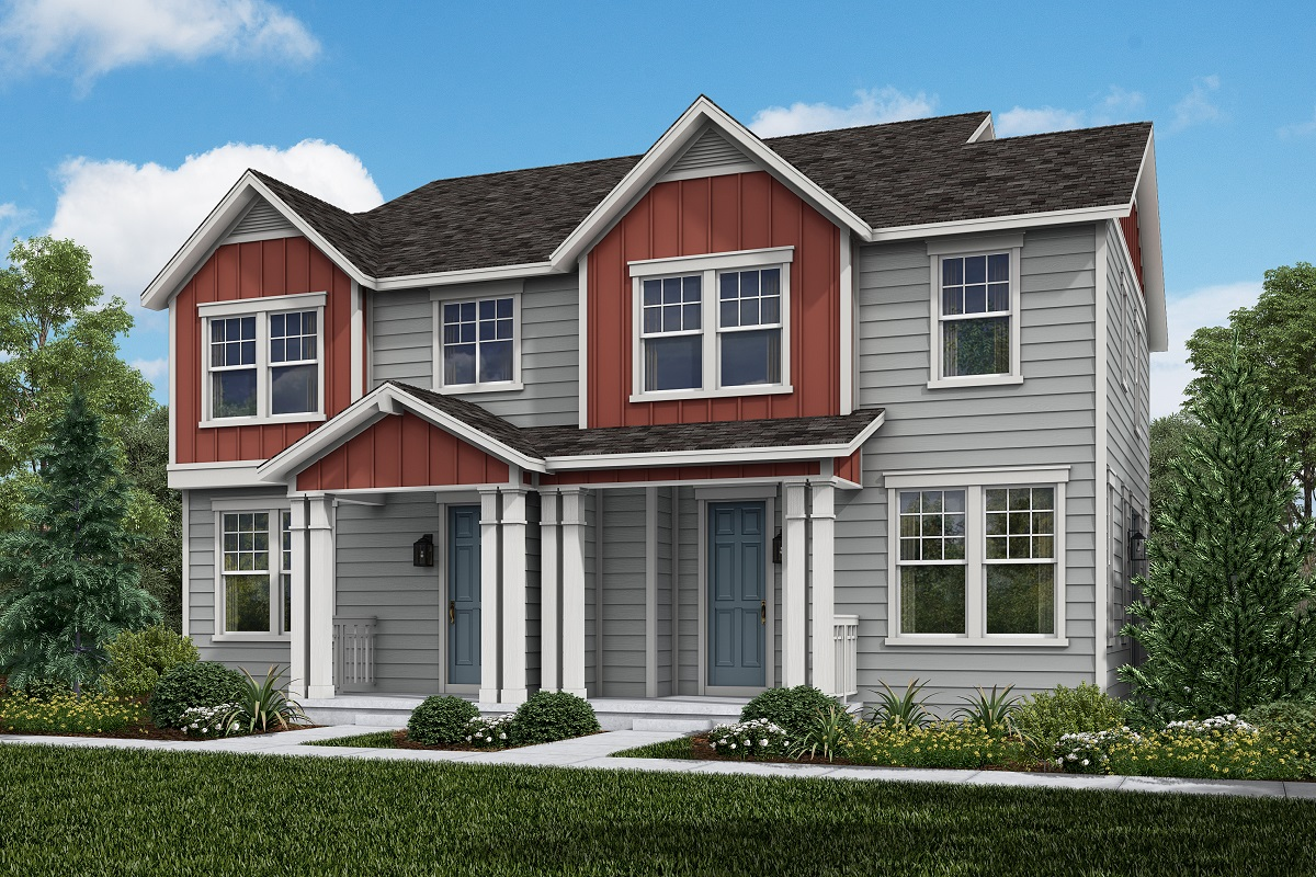 New Homes in Castle Rock, CO - Meadows Villas Plan 1443 and Plan 1673 Elevation B