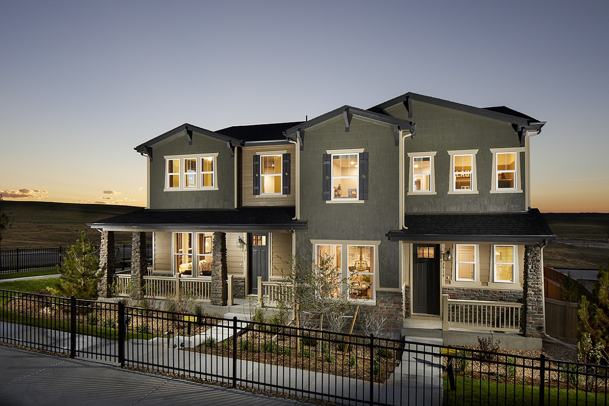 KB paired homes modeled in Castle Rock, CO